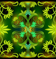 green leaves abstract glowing seamless pattern vector image vector image