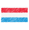 hand drawn national flag of luxembourg isolated on vector image vector image