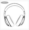 hand-drawn sketch of headphones vector image vector image