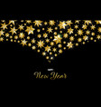 happy new year greeting card of gold star design vector image vector image