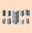 high rise buildings isometric vector image vector image