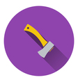 Icon of camping axe vector image