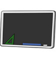 isolated cartoon blackboard vector image vector image