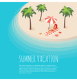 isometric of tropical island with palms vector image vector image