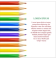 Left side border made of colorful pencils vector image vector image