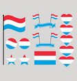 luxembourg flag set collection of symbols heart vector image vector image