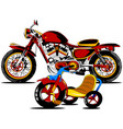 motorcycle and bicycle vector image