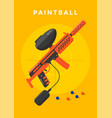 paintball sport poster vector image