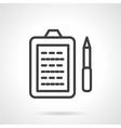 Paperwork simple line icon vector image vector image