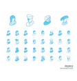 people and avatars isometric line icons 3d vector image