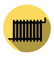 radiator sign flat black icon with flat vector image vector image