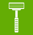 razor icon green vector image vector image