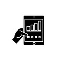 real data black icon sign on isolated vector image vector image