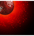 red disco ball and haltone vector image vector image