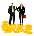 rich businessman couple vector image