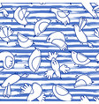 seamless pattern with abstract birds on striped vector image vector image