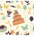seamless pattern with decorative birthday elements vector image vector image
