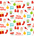 seasonal christmas seamless pattern vector image