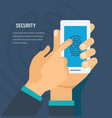 security concept security of personal data vector image