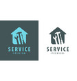 service logo construction apartment repair vector image
