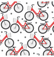 set bicycle pattern background vector image
