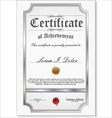 silver detailed certificate vector image vector image