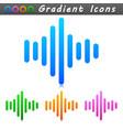 sound wave symbol icon vector image vector image