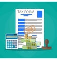 Time for pay taxes concept vector image