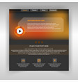 website music page template vector image