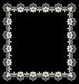 white openwork frame vector image vector image