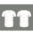 White V-neck shirts template vector image vector image