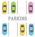 top view of a car parking vector image