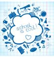 School accessories background vector image