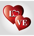 valentines day hearts love design vector image