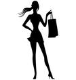 girl silhouette2 vector image
