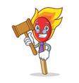 judge match stick mascot cartoon vector image