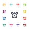 alarm clock flat icons set vector image