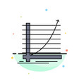 arrow chart curve experience goal flat color icon vector image