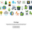background with ecology flat icons vector image vector image