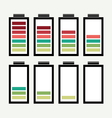 Battery icon with colorful charge level vector image vector image