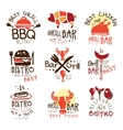 best grill bar promo signs set of colorful