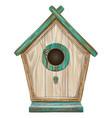 bird house wall sticker vector image vector image