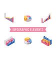 business infographic elements isometric vector image vector image