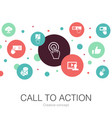 call to action trendy circle template with simple