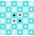 Card Suits Aqua Green Chess Board Background vector image vector image