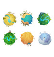 cartoon planet earth visualization different vector image vector image