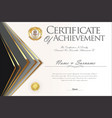 certificate or diploma design template 4 vector image vector image