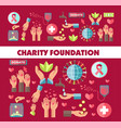 charity foundation social donation poster vector image