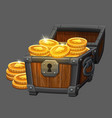 chest of gold coins icon vector image vector image