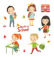 children and school vector image